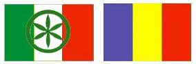 Bandiera di Italia-Padania e Romania