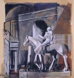 mario sironi cavallo e cavaliere
