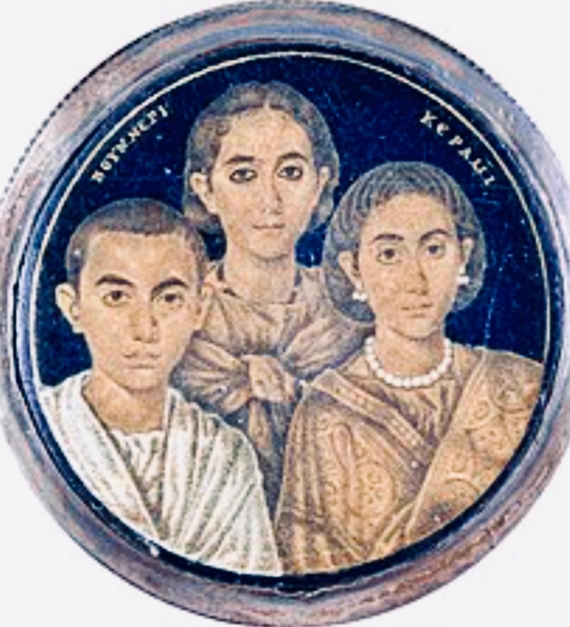Medaglione della Croce di Desiderio raffigurante Galla Placidia, Valentiniano III e Onoria