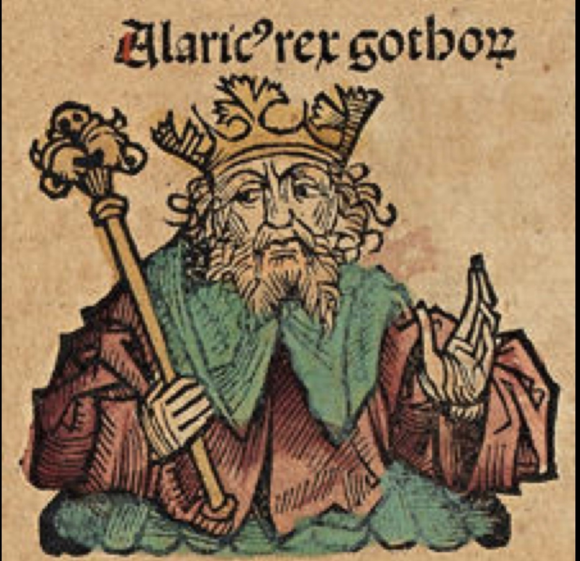Ritratto di Alarico re dei Goti fonte Wikimedia