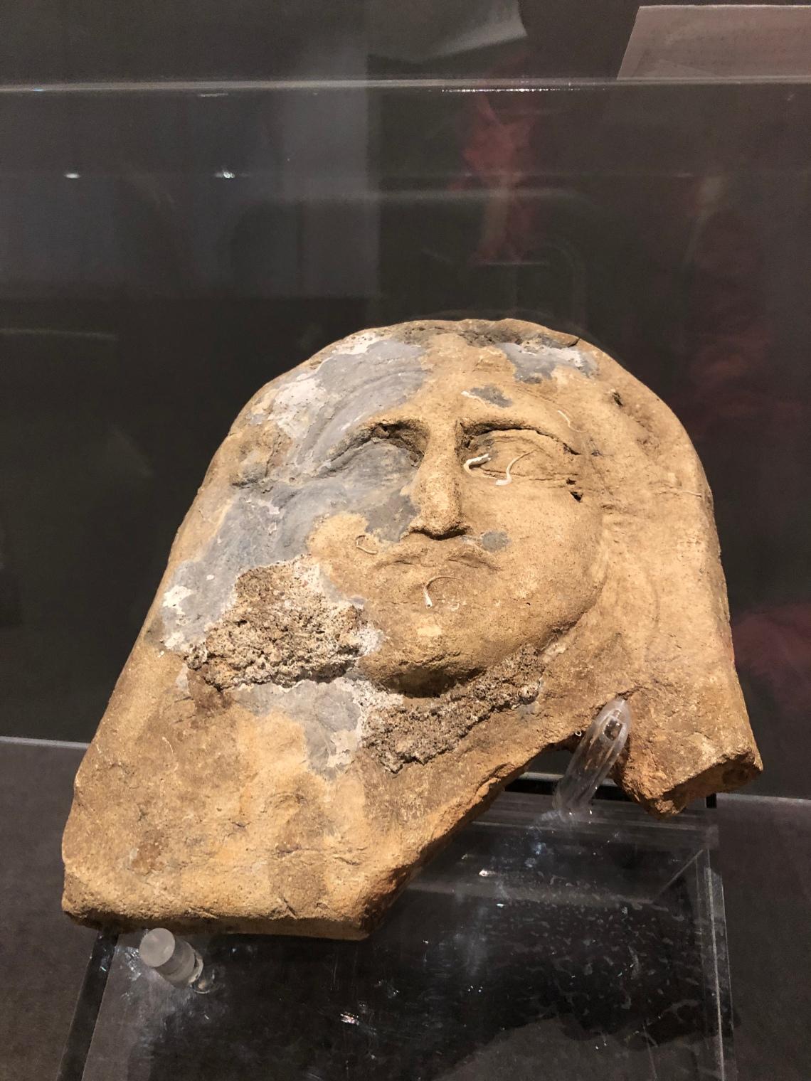 Antefissa a forma di Gorgone trovata in pozzo a Lio Piccolo