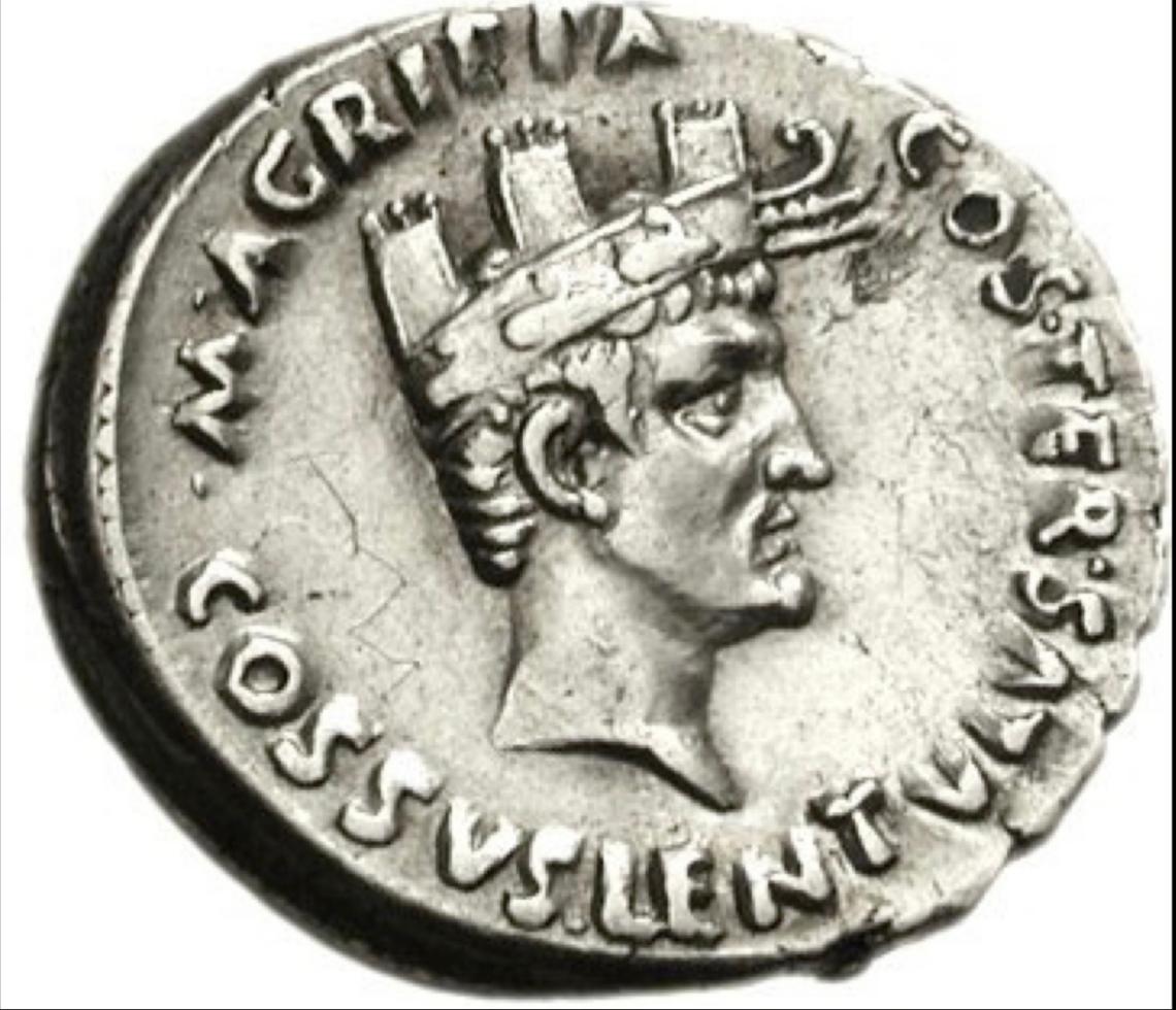 Medaglia di Agrippa con la corona navale fonte Wikipedia
